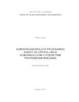 prikaz prve stranice dokumenta Samoorganizirajući programski agenti za upravljanje komunikacijom u pokretnim privremenim mrežama