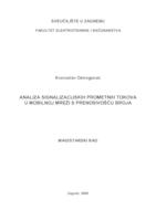Analiza signalizacijskih prometnih tokova u mobilnoj mreži s prenosivošću broja