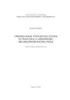 prikaz prve stranice dokumenta Vrednovanje točkastog izvora ultrazvuka u linearnom i nelinearnom načinu rada