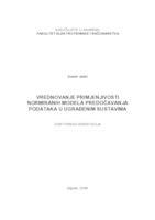 prikaz prve stranice dokumenta Vrednovanje primjenjivosti normiranih modela predočavanja podataka u ugrađenim sustavima