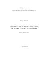 prikaz prve stranice dokumenta Postupak prijelaza na digitalno emitiranje u radiodifuziji zvuka