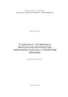prikaz prve stranice dokumenta Planiranje i optimiranje mikrovalnih nepokretnih usmjerenih sustava u pokretnim mrežama