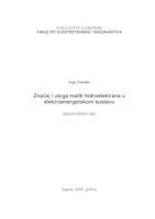 prikaz prve stranice dokumenta Značaj i uloga malih hidroelektrana u elektroenergetskom sustavu
