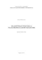 prikaz prve stranice dokumenta Skladištenje podataka u telekomunikacijskim poduzećima