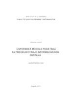 prikaz prve stranice dokumenta Usporedba modela podataka za preoblikovanje informacijskog sustava