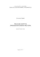 prikaz prve stranice dokumenta Relejna zaštita srednjenaponskih motora