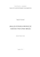 Analiza scenarija migracije paričnih pristupnih mreža