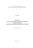 prikaz prve stranice dokumenta Nadzor elektroenergetske mikro-mreže zasnovan na mjerenjima sinkroniziranih fazora