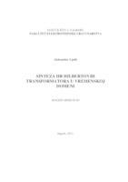 prikaz prve stranice dokumenta Sinteza IIR Hilbertovih transformatora u vremenskoj domeni