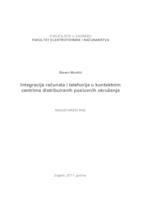 prikaz prve stranice dokumenta Integracija računala i telefonije u kontaktnim centrima distribuiranih poslovnih okruženja
