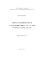 prikaz prve stranice dokumenta Utjecaj uklopne struje transformatora na djelovanje diferencijalne zaštite