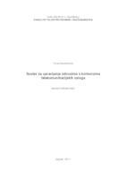 prikaz prve stranice dokumenta Sustav za upravljanje odnosima s korisnicima telkomunikacijskih usluga