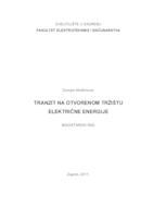 prikaz prve stranice dokumenta Tranzit na otvorenom tržištu električne energije