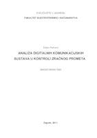 Analiza digitalnih komunikacijskih sustava u kontroli zračnog prometa