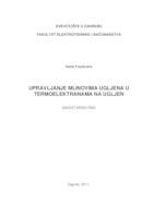 prikaz prve stranice dokumenta Upravljanje mlinovima ugljena u termoelektranama na ugljen