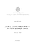 prikaz prve stranice dokumenta Cognitive radio networks optimization with spectrum sensing algorithms