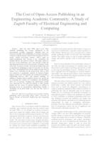 The Cost of Open-Access Publishing in an Engineering Academic Community: A Study of Zagreb Faculty of Electrical Engineering and Computing